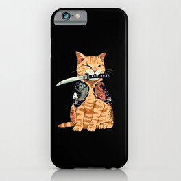 cat samurai iPhone Case