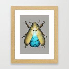 Turquoise Beetle Framed Art Print