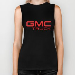 Black Truck Auto SUV Motor Sports Red GMC TRUCK Gildan trucker Biker Tank