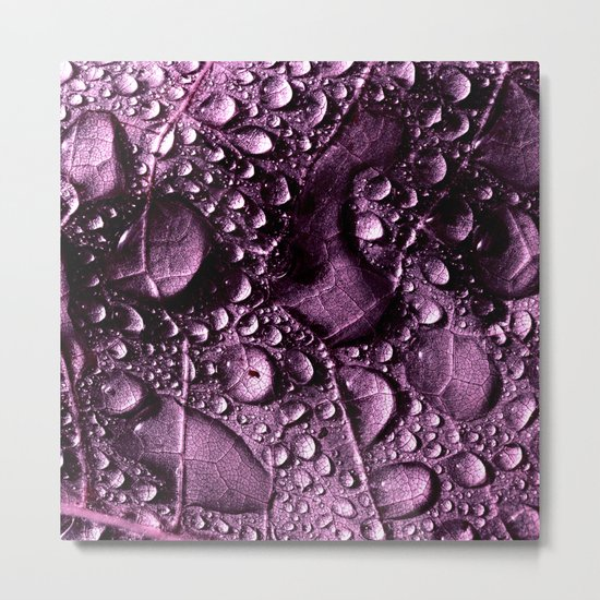 purple rain drops XXIV Metal Print