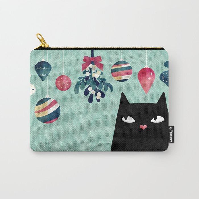 Mistletoe? (Black Cat) Carry-All Pouch