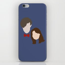 The Eleventh Doctor and the lovely Clara Oswin Oswald iPhone Skin