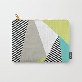 Stripes & Triangles - Teal & Acid Carry-All Pouch