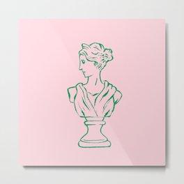 Elegant Greek Statue Metal Print