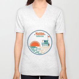Malibu, California Unisex V-Neck