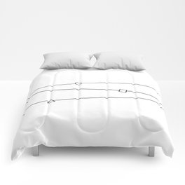 Lines and geometric shapes, simple Comforters