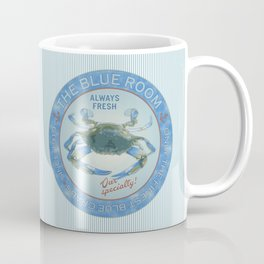 Retro Vintage Advertising Inspired Seafood Ad for Blue Crabs Coffee Mug
