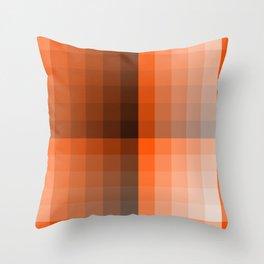 Monochromatic Orange Throw Pillow