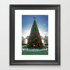 Xmas Tree in Tradition Town Square PSL Framed Art Print