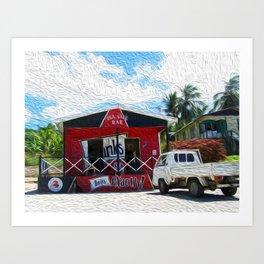Seaside Bar Art Print