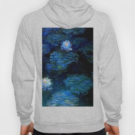 monet water lilies 1899 blue Teal Hoody