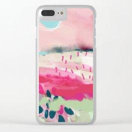 spring dream landscape Clear iPhone Case