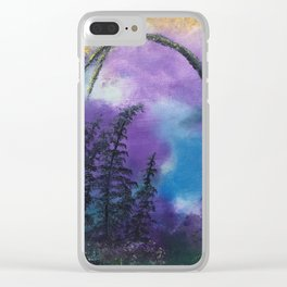 Blissful forest Clear iPhone Case