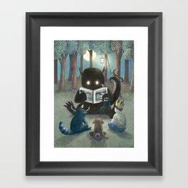 Reading Circle (colour option) Framed Art Print