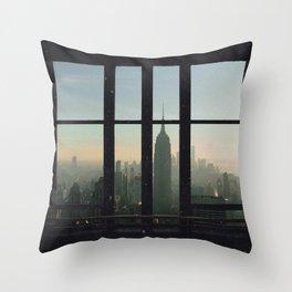 New York Skyline City Views Throw Pillow