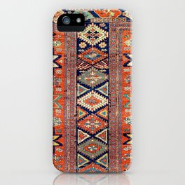 Southwestern Farmhouse V // 19th Century Colorful Red Yellow Blue Green Aztec Farm Stars Pattern iPhone Case