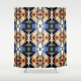Earth Tones Geometric Abstract Pattern Shower Curtain