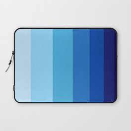 Colorful Blue Gradient Geometric Pattern Laptop Sleeve