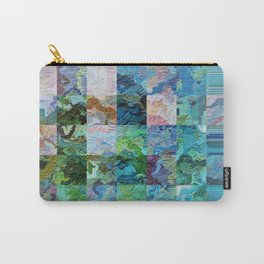 358 - Abstract squares design Carry-All Pouch