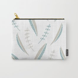 bicolore leaves pattern Carry-All Pouch