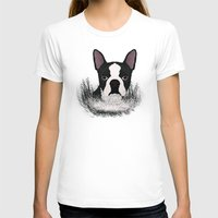 terrier T-shirts featuring Boston terrier by Nir P