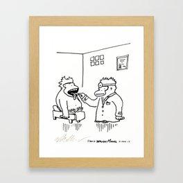 Ailing Ape Visits the Ape Doctor Framed Art Print