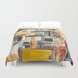 Autumn Rituals Abstract Painting Duvet Cover