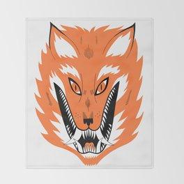 Cursed Fox Throw Blanket