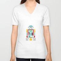 r2d2 V-neck T-shirts featuring R2D2 by John David Harris