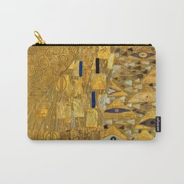 All the World is Gold symbolist portrait painting by Gustav Klimt Carry-All Pouch