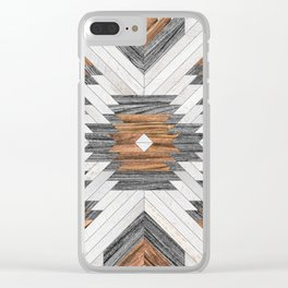 Urban Tribal Pattern No.8 - Aztec - Wood Clear iPhone Case