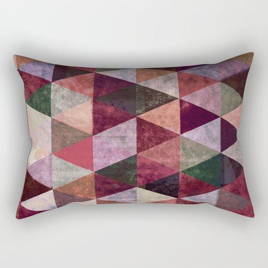 Abstract #480 Grunge Triangles #2 Rectangular Pillow