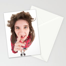 Fisheye Redneck Nose Picker Stationery Cards