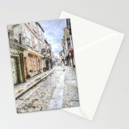 The Shambles York Snow Art Stationery Cards