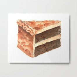 Chocolate Cake Slice Metal Print