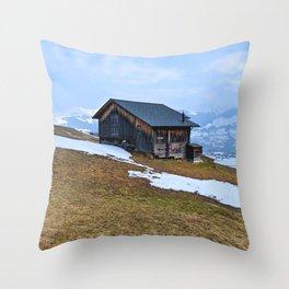 Swiss Cabin Throw Pillow