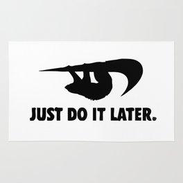 Sloth Procrastinator Motivator Rug