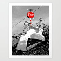 toilet Art Prints featuring Roadside toilet by Vorona Photography