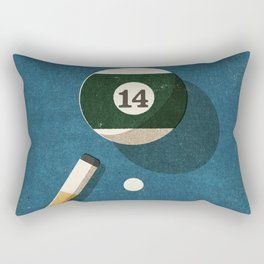 BILLIARDS / Ball 14 Rectangular Pillow