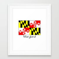 maryland Framed Art Prints featuring Maryland by rita rose