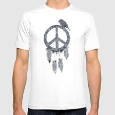 A dreamcatcher for peace Mens Fitted Tee SMALL White