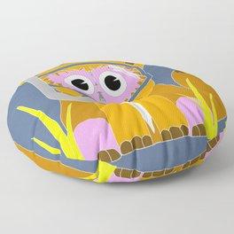 Pink Snorkel Fox Floor Pillow