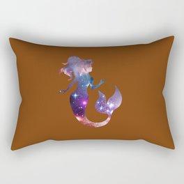 Galaxy Mermaid (Brown) Rectangular Pillow