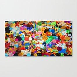 Sticker overload Canvas Print