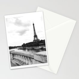 eiffel tower black and w Stationery Cards