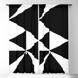 Triangles in Black and White Blackout Curtain