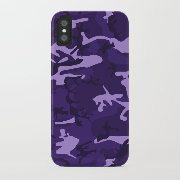sale retailer 0a24d 4b895 Dark Purple Camo Pattern iPhone Case