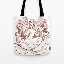 Goldfish Mermaid Tote Bag