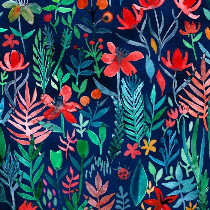 Tropical Ink - a watercolor garden Leggings