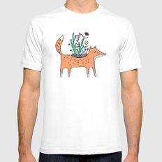 Flora and Fauna MEDIUM White Mens Fitted Tee